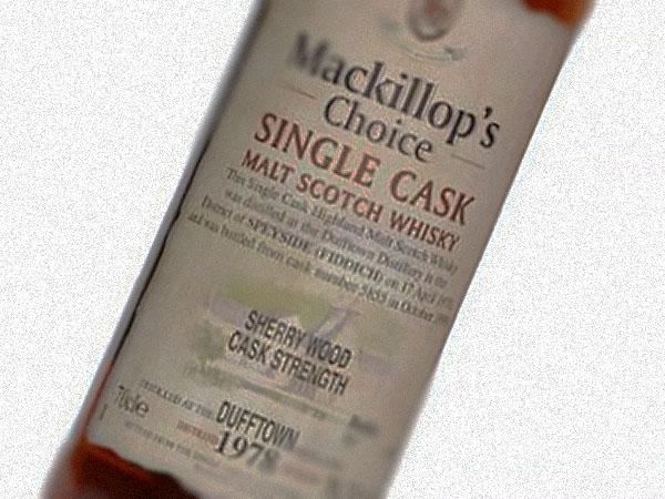 Dufftown 1978 Mackillop's Choice